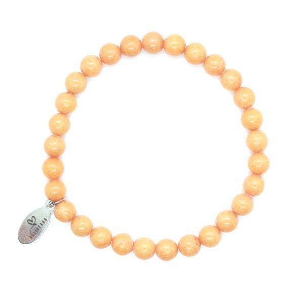 Natuursteen armband oranje