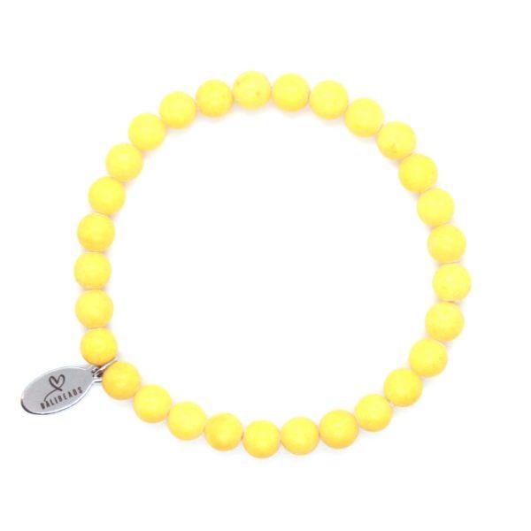 Natuursteen armband geel