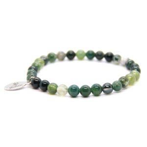 Natuursteen armband groen