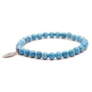 Natuursteen armband blauw