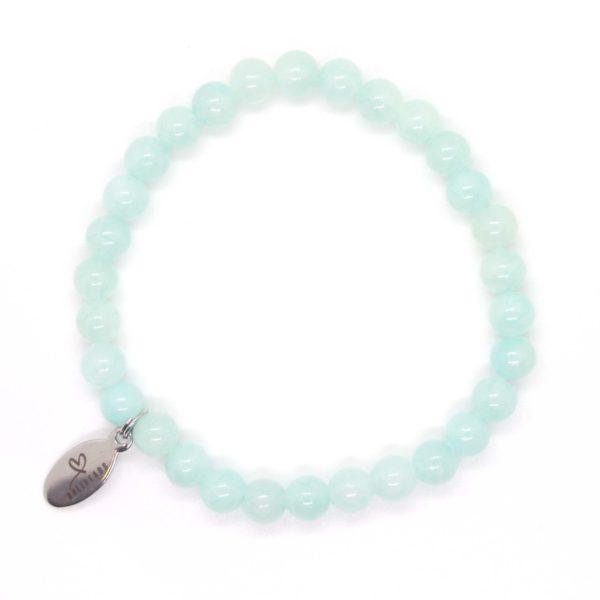 Natuursteen armband lichtblauw