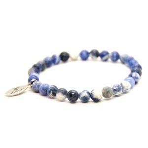 Natuursteen armband Delfsblauw