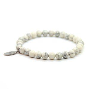 Natuursteen armband wit
