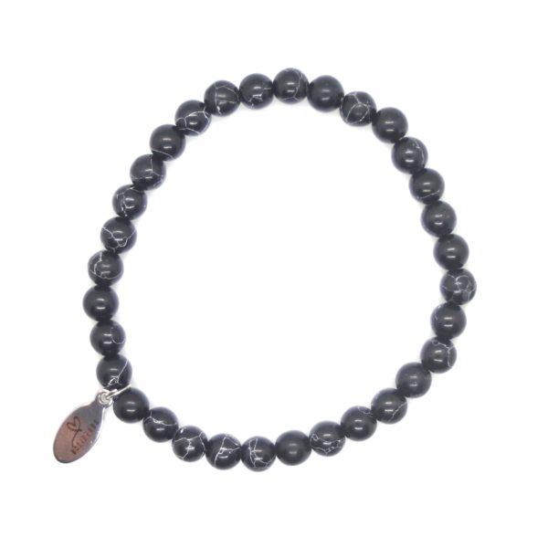 Natuursteen armband zwart