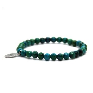 Natuursteen armband blauwgroen